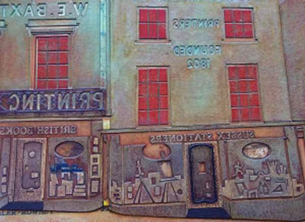 Detail from Baxters collagraph block